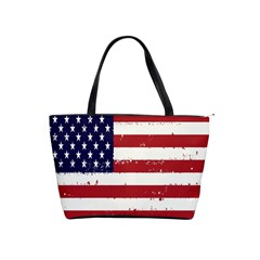 Flag United States United States Of America Stripes Red White Shoulder Handbags by Simbadda