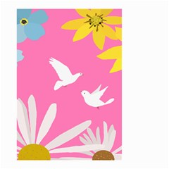 Spring Flower Floral Sunflower Bird Animals White Yellow Pink Blue Small Garden Flag (two Sides) by Alisyart