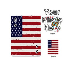 Flag United States United States Of America Stripes Red White Playing Cards 54 (mini)  by Simbadda
