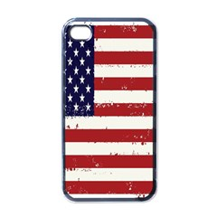 Flag United States United States Of America Stripes Red White Apple Iphone 4 Case (black) by Simbadda