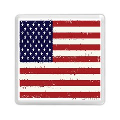 Flag United States United States Of America Stripes Red White Memory Card Reader (square)  by Simbadda