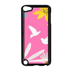 Spring Flower Floral Sunflower Bird Animals White Yellow Pink Blue Apple Ipod Touch 5 Case (black) by Alisyart