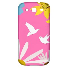 Spring Flower Floral Sunflower Bird Animals White Yellow Pink Blue Samsung Galaxy S3 S Iii Classic Hardshell Back Case by Alisyart