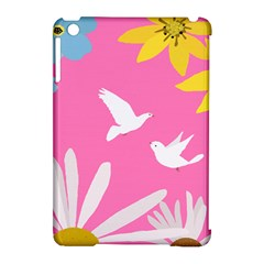 Spring Flower Floral Sunflower Bird Animals White Yellow Pink Blue Apple Ipad Mini Hardshell Case (compatible With Smart Cover)