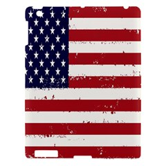 Flag United States United States Of America Stripes Red White Apple Ipad 3/4 Hardshell Case by Simbadda