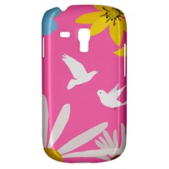 Spring Flower Floral Sunflower Bird Animals White Yellow Pink Blue Galaxy S3 Mini by Alisyart