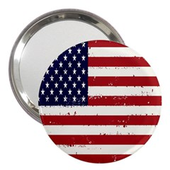 Flag United States United States Of America Stripes Red White 3  Handbag Mirrors by Simbadda