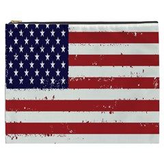 Flag United States United States Of America Stripes Red White Cosmetic Bag (xxxl)