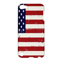 Flag United States United States Of America Stripes Red White Apple Ipod Touch 5 Hardshell Case by Simbadda