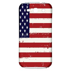 Flag United States United States Of America Stripes Red White Samsung Galaxy S3 S Iii Classic Hardshell Back Case by Simbadda