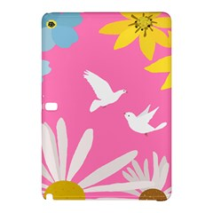 Spring Flower Floral Sunflower Bird Animals White Yellow Pink Blue Samsung Galaxy Tab Pro 12 2 Hardshell Case by Alisyart
