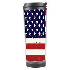 Flag United States United States Of America Stripes Red White Travel Tumbler by Simbadda