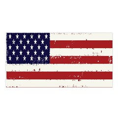 Flag United States United States Of America Stripes Red White Satin Shawl by Simbadda
