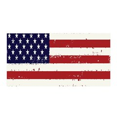 Flag United States United States Of America Stripes Red White Satin Wrap by Simbadda