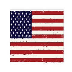 Flag United States United States Of America Stripes Red White Small Satin Scarf (square) by Simbadda
