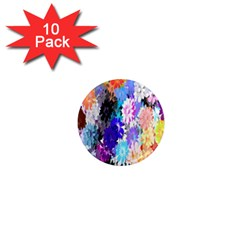 Flowers Colorful Drawing Oil 1  Mini Magnet (10 Pack)