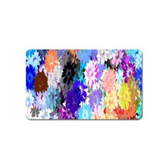 Flowers Colorful Drawing Oil Magnet (name Card) by Simbadda