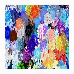 Flowers Colorful Drawing Oil Medium Glasses Cloth by Simbadda