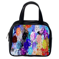 Flowers Colorful Drawing Oil Classic Handbags (one Side) by Simbadda
