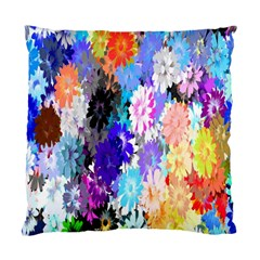 Flowers Colorful Drawing Oil Standard Cushion Case (two Sides) by Simbadda