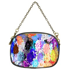 Flowers Colorful Drawing Oil Chain Purses (two Sides)  by Simbadda