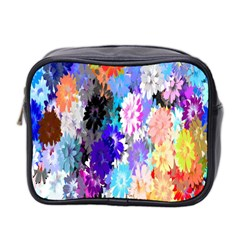 Flowers Colorful Drawing Oil Mini Toiletries Bag 2 Side by Simbadda