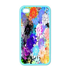 Flowers Colorful Drawing Oil Apple Iphone 4 Case (color) by Simbadda