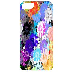 Flowers Colorful Drawing Oil Apple Iphone 5 Classic Hardshell Case by Simbadda