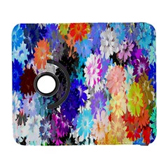 Flowers Colorful Drawing Oil Galaxy S3 (flip/folio) by Simbadda