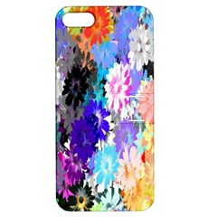 Flowers Colorful Drawing Oil Apple Iphone 5 Hardshell Case With Stand by Simbadda