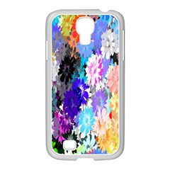 Flowers Colorful Drawing Oil Samsung Galaxy S4 I9500/ I9505 Case (white)
