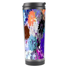 Flowers Colorful Drawing Oil Travel Tumbler by Simbadda