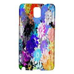 Flowers Colorful Drawing Oil Samsung Galaxy Note 3 N9005 Hardshell Case by Simbadda