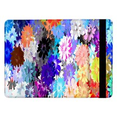 Flowers Colorful Drawing Oil Samsung Galaxy Tab Pro 12 2  Flip Case