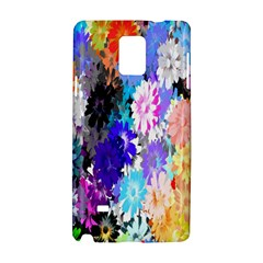 Flowers Colorful Drawing Oil Samsung Galaxy Note 4 Hardshell Case by Simbadda