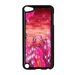 Flowers Neon Stars Glow Pink Sakura Gerberas Sparkle Shine Daisies Bright Gerbera Butterflies Sunris Apple Ipod Touch 5 Case (black) by Simbadda