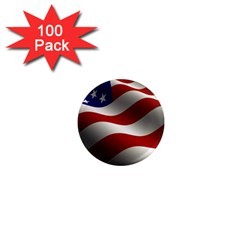 Flag United States Stars Stripes Symbol 1  Mini Magnets (100 Pack)  by Simbadda