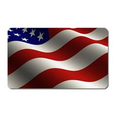 Flag United States Stars Stripes Symbol Magnet (rectangular) by Simbadda