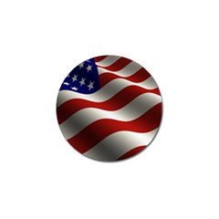 Flag United States Stars Stripes Symbol Golf Ball Marker (4 Pack) by Simbadda