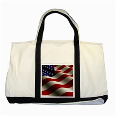 Flag United States Stars Stripes Symbol Two Tone Tote Bag by Simbadda