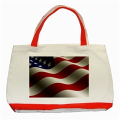 Flag United States Stars Stripes Symbol Classic Tote Bag (red) by Simbadda