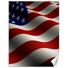 Flag United States Stars Stripes Symbol Canvas 18  X 24   by Simbadda