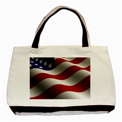 Flag United States Stars Stripes Symbol Basic Tote Bag (two Sides) by Simbadda