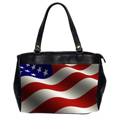 Flag United States Stars Stripes Symbol Office Handbags (2 Sides)  by Simbadda