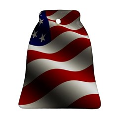 Flag United States Stars Stripes Symbol Ornament (bell) by Simbadda