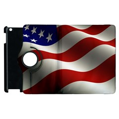 Flag United States Stars Stripes Symbol Apple Ipad 2 Flip 360 Case by Simbadda