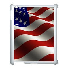 Flag United States Stars Stripes Symbol Apple Ipad 3/4 Case (white)