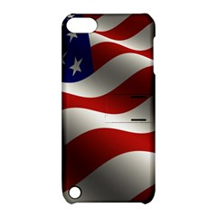 Flag United States Stars Stripes Symbol Apple Ipod Touch 5 Hardshell Case With Stand by Simbadda