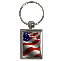 Flag United States Stars Stripes Symbol Key Chains (rectangle)  by Simbadda