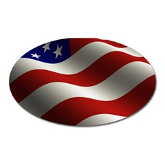 Flag United States Stars Stripes Symbol Oval Magnet by Simbadda